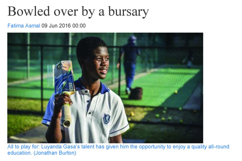 Bowled over by a bursary